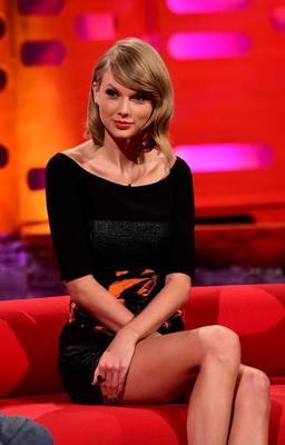 Taylor Swift appearing on the Graham Norton show, filmed at the London Studios, London. Photo: Ian West/PA Wire