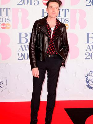 Nick Grimshaw arriving for the 2015 Brit Awards at the O2 Arena, London.