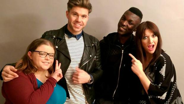 Jennifer Maguire and Darren Kennedy with The Unemployables Nicole and Issa
