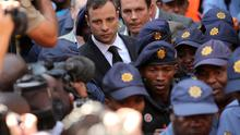 Oscar Pistorius leaves on bail from the North Gauteng High Court