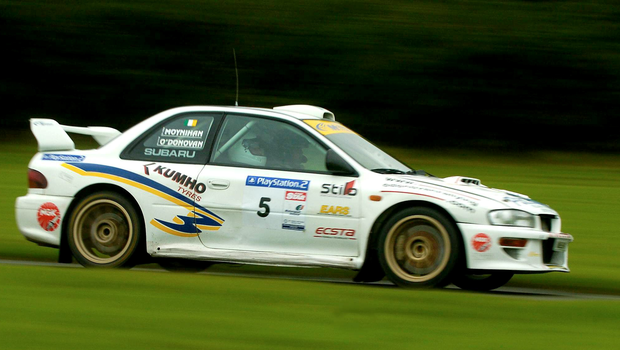 Ollie O'Donovan, Ireland, in action during the 2004 Playstation 2 Punchestown Rally Experience, Punchestown Race Course, Co. Kildare