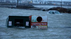 Flooded Car park in Salthill, Galway. Picture: Hany Marzouk