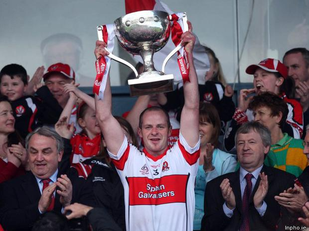 Lavey captain and former Derry All Star Kevin McCloy was rushed to hospital tonight