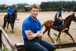Trainer Denis Hogan at his yard in Cloughjordan, Co Tipperary: 'We just got lucky in that we gave the horses the time that they (big studs) probably don't have.'