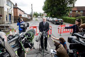 Detective Superintendent Chris Ward makes a statement to the media on Vicarage Road, Didcot, Oxfordshire, as the bodies of Philip Howard, 44, Janet Jordan, 48, and daughter Derrin, 6, were discovered at their home in Didcot, Oxfordshire. Ben Birchall/PA Wire