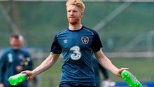Republic of Ireland's Paul McShane is a doubt for Saturday's game with Scotland