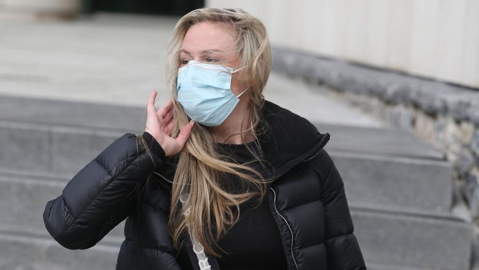 Gemma Greene pictured leaving Dublin District Court.               Photo: Collins Courts