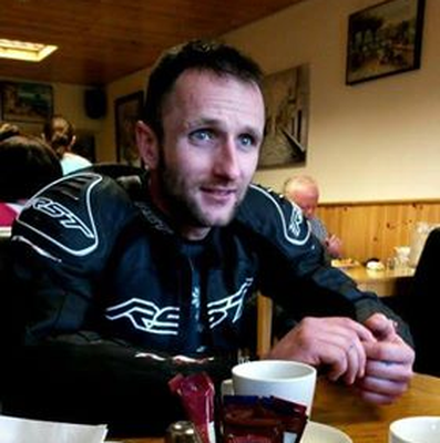Rob Lambert who was injured in a serious road crash last year.