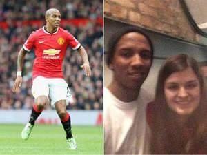 The Manchester United midfielder was asked for a photo but accidentally dropped the device