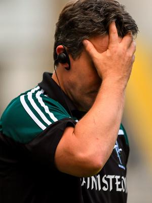 28 June 2015; Kildare manager Jason Ryan in the final moments of the game. Leinster GAA Football Senior Championship, Semi-Final, Dublin v Kildare. Croke Park, Dublin. Picture credit: Ramsey Cardy / SPORTSFILE