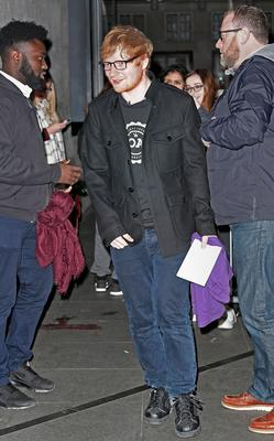 Ed Sheeran arrives at BBC Broadcasting House, London, ahead of his appearance on the BBC Radio 1 Breakfast Show. PRESS ASSOCIATION Photo. Picture date: Friday January 6, 2017. Photo credit should read: Victoria Jones/PA Wire