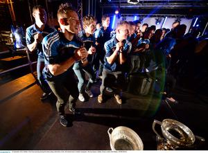 Dublin's Paul Flynn dancing during the homecoming celebrations of the All-Ireland Senior Football Champions. Merrion Square, Dublin