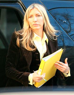 Heather Mills arrives at the High Court in central London, on February 12, 2008