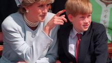 Princess Diana with her younger son Prince Harry in 1995. Martin Keene/PA Wire