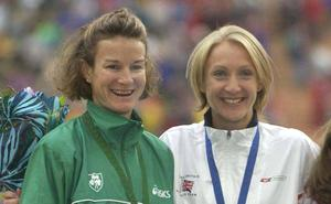 Sonia O'Sullivan and Paula Radcliffe pictured together at the European Athletics Championships in Munich in 2000