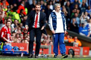 Brendan Rodgers showing the strain as Liverpool boss in 2014. Photo: REUTERS/Darren Staples