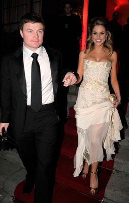 Brian O'Driscoll and Amy Huberman at the IFTAs afterparty at the Shelbourne Hotel in 2008