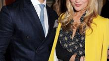 David Gandy cosies up with presenter Laura Whitmore at the Annabel's party