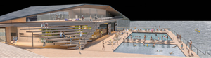 Artist's impression of the proposed outdoor pool
