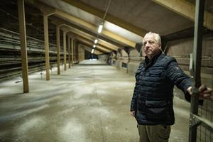 2/5/20 Mickey Mc Kenna, free rangeegg producer from Tydavenet in North Monaghan, who's business has been devastated by avian flu. Picture:Arthur Carron