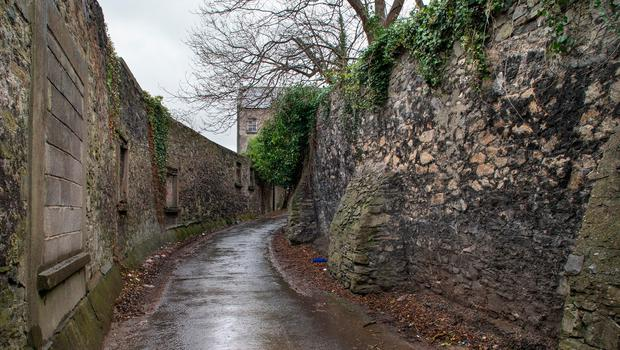Sone walls of lane leading to at site of the Sisters of Charity Magdalene Laundry in Donnybrook. Photo: Tony Gavin