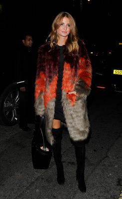 LONDON, ENGLAND - NOVEMBER 19:  Millie Mackintosh attends the Claridge's & Dolce and Gabbana Christmas Tree party at Claridge's Hotel  on November 19, 2014 in London, England.  (Photo by Keith Hewitt/GC Images)
