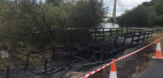 Gardaí were notified of a fire at the Oldcastle site along the historic Boyne canal in Drogheda at 11pm on Thursday night (Photo: Ged Nash)