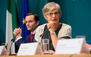 Taking action: Katherine Zappone announces her decisions over Tuam. Photo: Collins