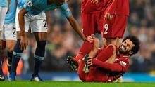 Liverpool manager Jurgen Klopp was not happy with Vincent Kompany's first half challenge that left Mohamed Salah in agony