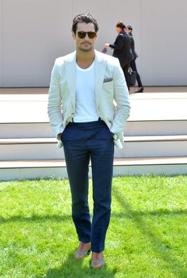 David Gandy attends the Burberry Prorsum show during the London Collections: Men SS15