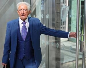Hearing: Veteran entertainer Sil Fox at the Criminal Courts of Justice in Dublin. Photo: Collins Courts