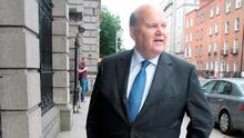 Finance Minister Michael Noonan,TD at Leinster House on the day of the EU Commission's ruling on Apple's tax arrangement in Ireland. Pic Tom Burke