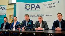 CPA members from left, Niall Corcoran, Aaron Kernan, CPA Executive member and Grassroots Coordinator, Declan Brennan, Secretary CPA, left, Micheal Briody Chairman CPA, and Kevin Nolan, CPA Executive Member and Player Welfare Coordinator, at the official launch of the Club Players Association in January. Photo: Piaras Ó Mídheach/Sportsfile