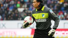 Former Hoffenheim goalkeeper Tim Wiese could swap his goalkeeping gloves for a spandex singlet as he makes the move into professional wrestling. Photo: Thomas Niedermueller/Bongarts/Getty Images