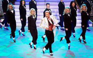 Michael Flatley performs on the show