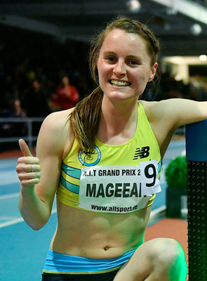 Ciara Mageean smashed her own Irish Indoor 1,500m record, clocking 4:06.76. Photo: Brendan Moran/Sportsfile