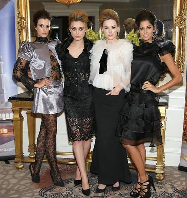 Models Karen Fitzpatrick,Jo Archbold, Sarah Morrissey and Martha Christie at The Etihad Airways International Charity Lunch and Fashion Show in aid of the Rape Crisis Centre.