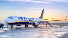 Ryanair plane at Dublin Airport