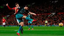 Shane Long gets his shot away before being denied by a great save   Photo: Reuters