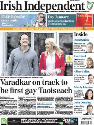 Today's Irish Independent front page