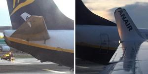 The damage on the two planes this morning. (Picture EmzCarr Twitter)