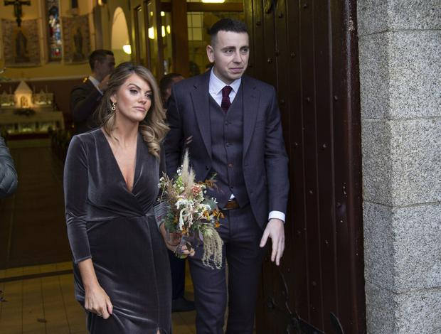 Wedding guests at Philly McMahon and Sarah Lacey's Kildare wedding. Picture: Fergal Phillips
