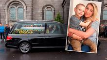 Funeral of 'Batman' Ben Farrell (Inset: Ben and his mum Valerie)
