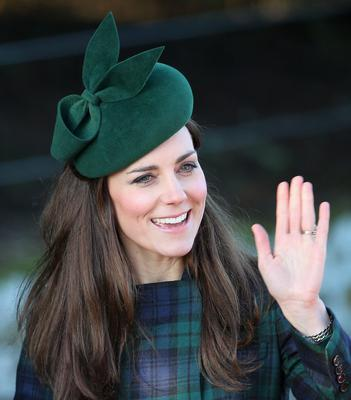 Kate Middleton arrives for the Christmas Day service at Sandringham on December 25, 2013 in King's Lynn, England.  (Photo by Chris Jackson/Getty Images)