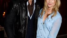 LONDON, ENGLAND - JANUARY 20:  David Gandy (L) and Laura Whitmore attend the 'GUESS Loves Priyanka' VIP Dinner at the London Edition Hotel on January 20, 2014 in London, England.  (Photo by David M. Benett/Getty Images for GUESS)