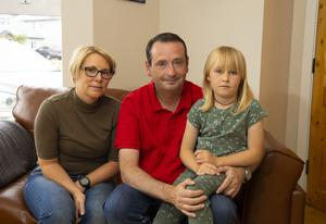 Jason and Martha Sheridan with their daughter Clodagh (7) Picture: Patrick Browne