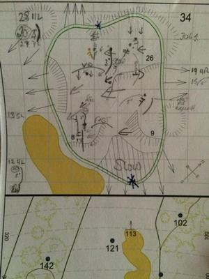 Padraig Harrington's yardage book
