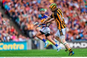 7 September 2014; Richie Power, Kilkenny, shoots to score his side's third goal of the game. GAA Hurling All Ireland Senior Championship Final, Kilkenny v Tipperary. Croke Park, Dublin. Picture credit: Stephen McCarthy / SPORTSFILE