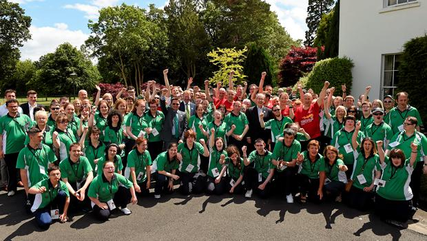 Team Ireland athletes were hosted at a reception by US Ambassador to Ireland Kevin F O'Malley at his official residence in the Phoenix Park