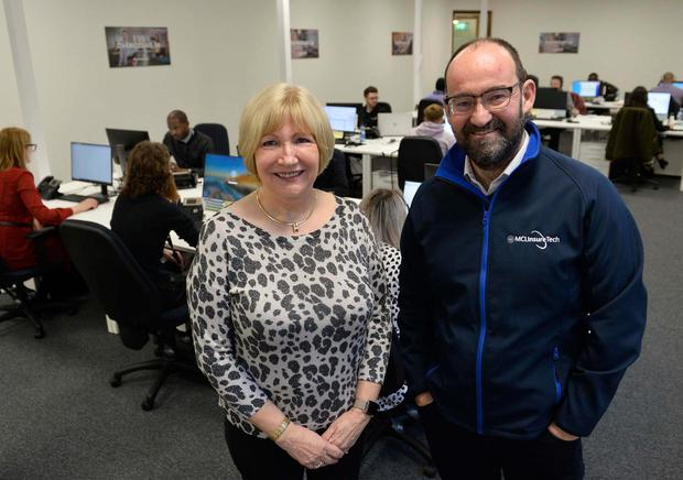Jean Hellewell, Managing Director, MCL Insurance Services and Gary McClarty, Managing Director of MCL InsureTech.